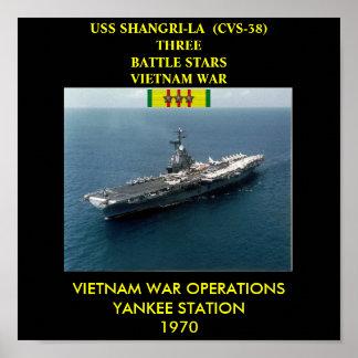 AFFICHE D'USS SHANGRI-LA (CVS-38)