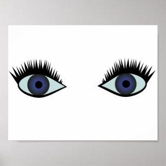 Affiche d'yeux bleus poster