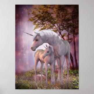 Affiche enchantée de licornes