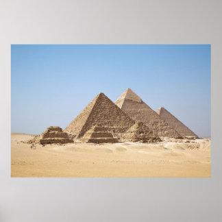 Affiche énorme de pyramides de l Egypte-Gizah
