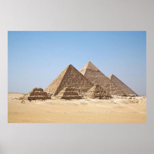 Affiche énorme de pyramides de l'Egypte-Gizah