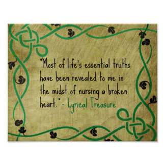 Affiche essentielle des vérités de la vie de