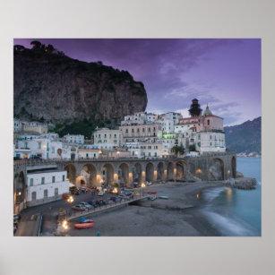 Affiche Europe, Italie, Campanie (Côte d'Amalfi) Atrani :