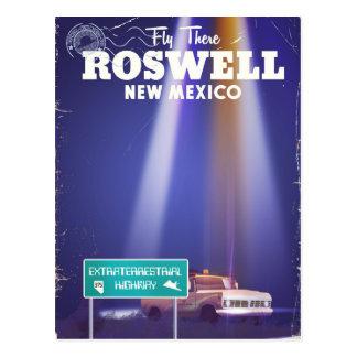 Affiche extraterrestre de voyage de route de carte postale