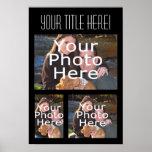Affiche faite sur commande de collage de photo, tr
