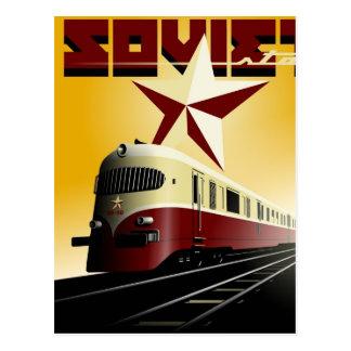 Affiche ferroviaire communiste vintage russe carte postale