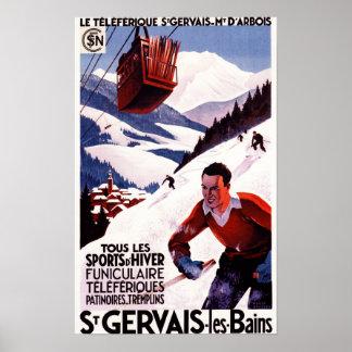 Affiche ferroviaire de promo de funiculaire de SNC Posters