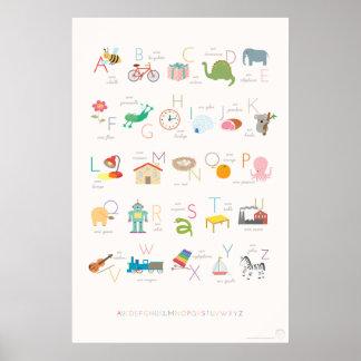 Affiche française d'alphabet