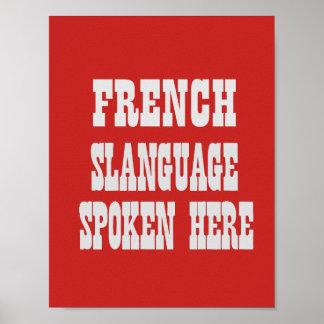 Affiche française de slanguage poster