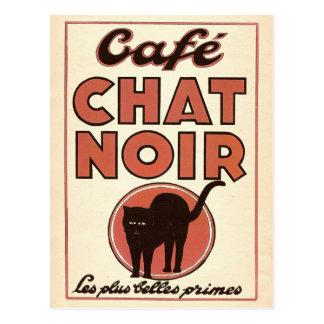 """Affiche française vintage """"conversation de Café Carte Postale"""