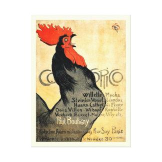 Affiche française vintage de Cocorico Toiles