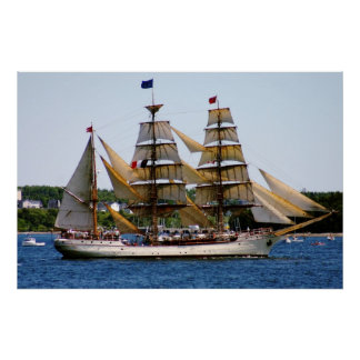Affiche grande de bateau d'Europa