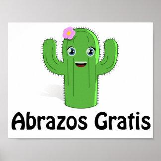 Affiche gratuite de cactus d'Abrazos