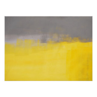 """Affiche grise et jaune d'un Abstrct simple"" d'art Posters"