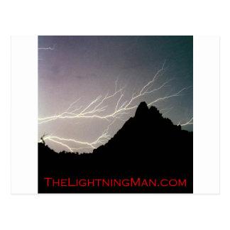 Affiche horizontale d'homme de foudre carte postale