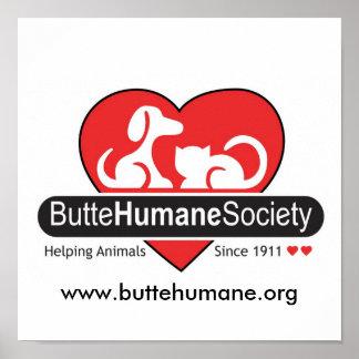 Affiche humanitaire de société de butte