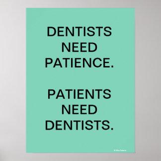 Affiche humoristique de dentiste/slogan de posters