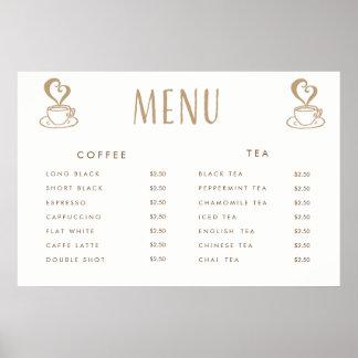 Affiche imprimée par coutume de menu des prix de poster