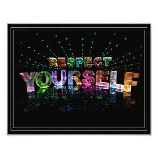 Affiche inspirée du respect vous-même photos d'art