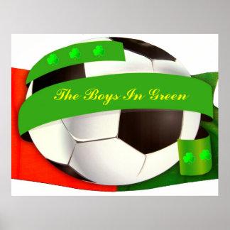 Affiche irlandaise du football