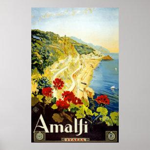 Affiche italienne de Vintage voyage de côte