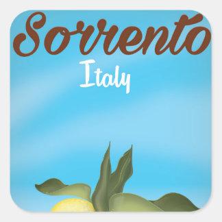 Affiche italienne de voyage de vacances de sticker carré