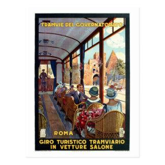 Affiche italienne de voyage des années 1920 carte postale