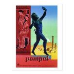 Affiche italienne vintage de voyage de Pompeii Cartes Postales