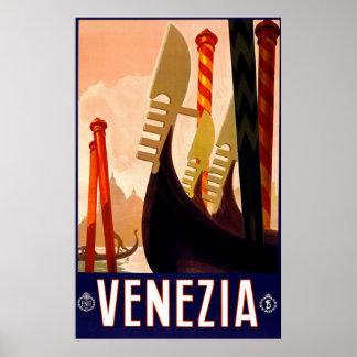 """Affiche italienne vintage de voyage de """"Venise"""""""