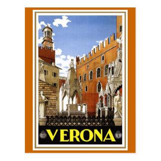 """Affiche italienne vintage de voyage de """"Vérone"""" Cartes Postales"""