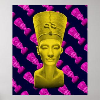 Affiche jaune de Nefertiti Poster