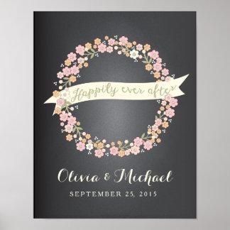 Affiche l'épousant de la guirlande II floral avec  Posters