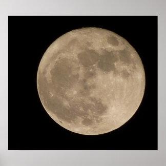 Affiche lunaire de pleine lune d'astronomie d'impr