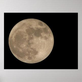 Affiche lunaire de pleine lune d'astronomie d'impr posters
