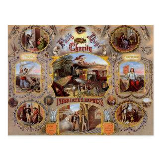 Affiche maçonnique carte postale