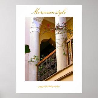 Affiche marocaine de style