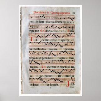 Affiche médiévale de score de musique posters