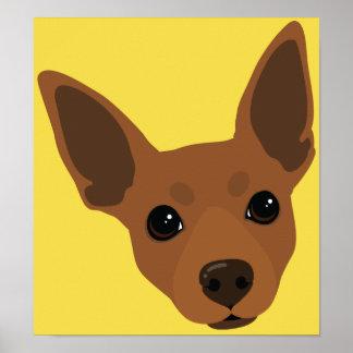 Affiche minimum de portrait de chien de Pin de Poster
