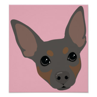 Affiche minimum de portrait de chien de Pin de Posters