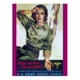 Affiche nécessaire de recrutement d'infirmières carte postale