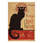 Affiche Noir de promo de chat noir de troupe de ca