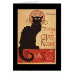 Affiche Noir de promo de chat noir de troupe de Carte De Vœux