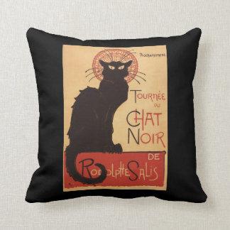 Affiche Noir de promo de chat noir de troupe de Coussin Décoratif