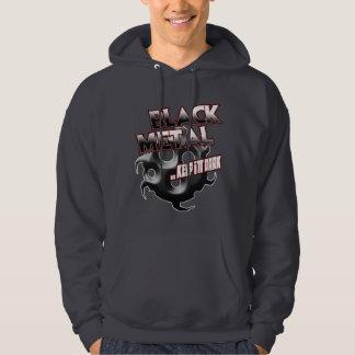 Affiche noire d'autocollant de sweat - shirt à sweat-shirts avec capuche