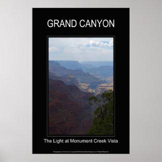 Affiche noire de la lumière 4708 de canyon grand