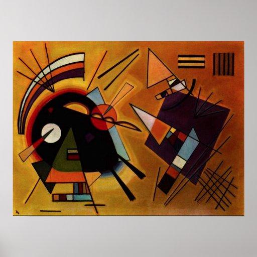 Affiche noire et violette de Kandinsky