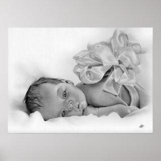 Affiche nouveau-née de cadeau de bébé
