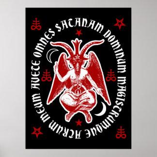 "Affiche occulte latine de Satan"" Baphomet ""de Posters"