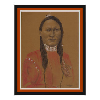 Affiche, orig. illustration, scout de Cheyenne en Poster