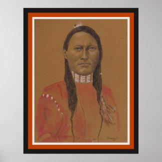 Affiche, orig. illustration, scout de Cheyenne en Posters